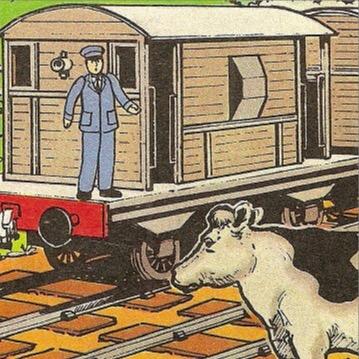 マガジンの灰色のイギリス国鉄の20トンブレーキ車
