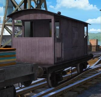 TV版第24シーズンの灰色のイギリス国鉄の20トンブレーキ車