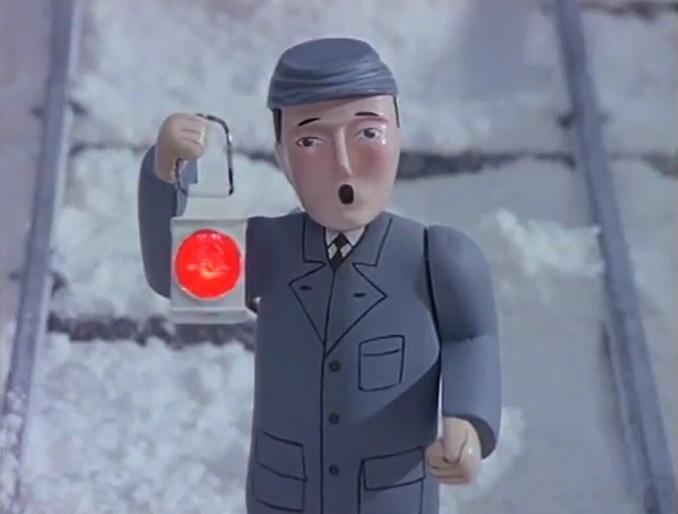 TV版第3シーズンの灰色コートの信号手