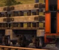 TV版第18シーズンの狭軌のスレート貨車(タイプ1)