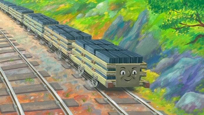 Mr.Perkins Storytimeの狭軌のスレート貨車(タイプ2、連結器なし)