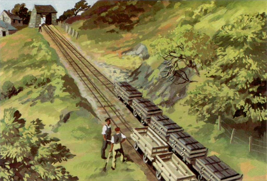 原作第14巻の狭軌のスレート貨車(タイプ2)