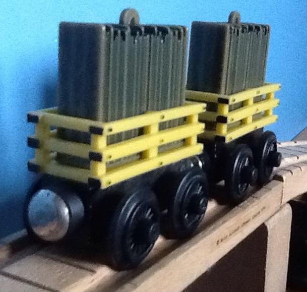 木製レールシリーズの狭軌のスレート貨車(タイプ5)(カスタム化)