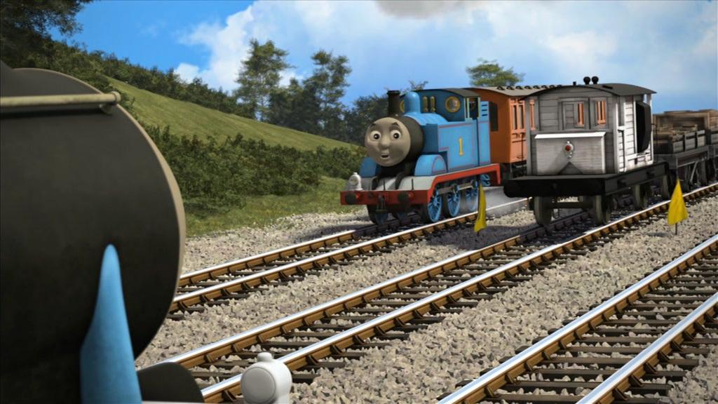 TV版第18シーズンの白いサザン鉄道の25トンブレーキ車