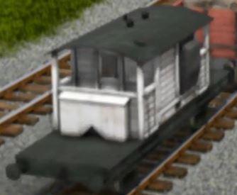 TV版第17シーズンの白いサザン鉄道の25トンブレーキ車