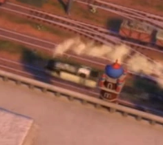 TV版第23シーズンの白いタンク機関車(インド)