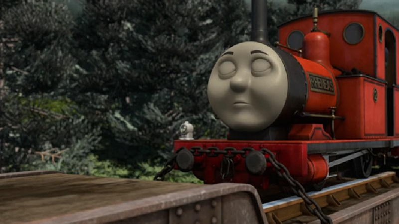 TV版第16シーズンのレニアスを乗せた貨車