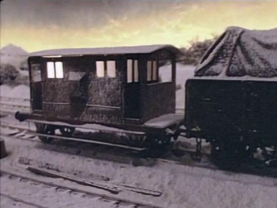 TV版第1シーズンの窓付きイギリス国鉄の20トンブレーキ車
