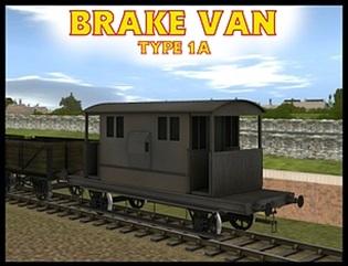 Trainz版の窓付きイギリス国鉄の20トンブレーキ車