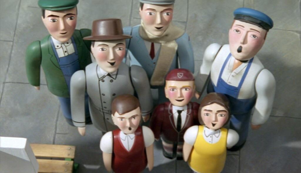 TV版第6シーズンの給炭所の主任(後列の左端)