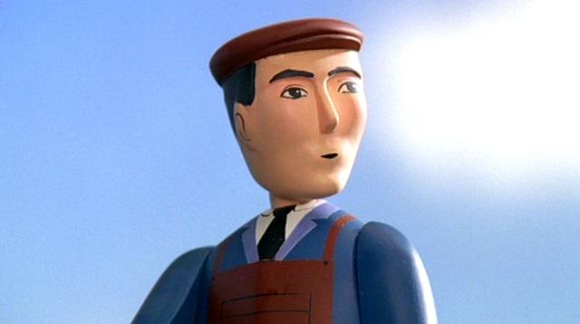 TV版第7シーズンの線路工事の作業員