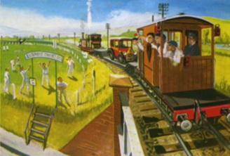 原作第18巻の茶色のイギリス国鉄の20トンブレーキ車