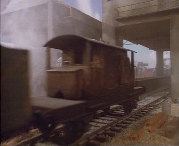 TV版第2シーズンの茶色のサザン鉄道の25トンブレーキ車