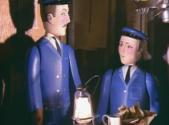 TV版第1シーズンの貨物列車の車掌