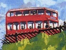 原作第5巻の赤い2階建てバス