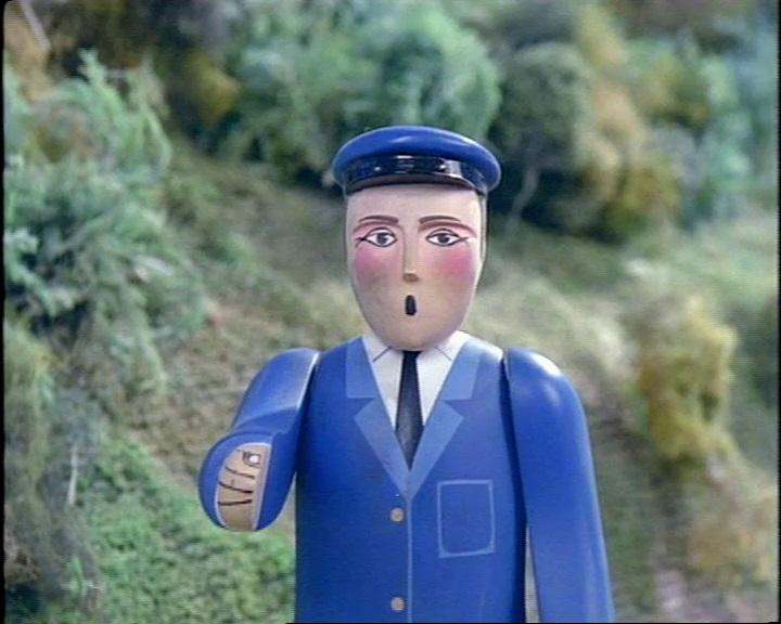 TV版第1シーズンの鉄道制服の信号手