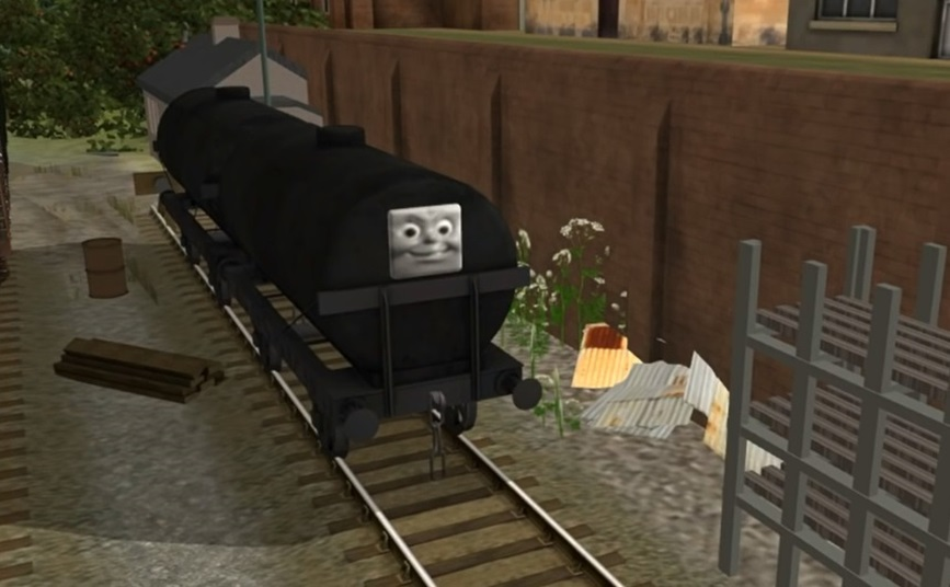 Trainz 2009の黒い顔つきタンク車