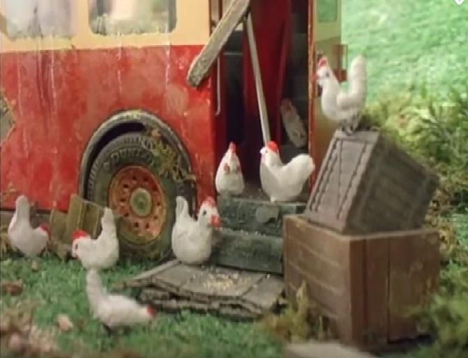TV版第3シーズンのバルジーの雌鶏
