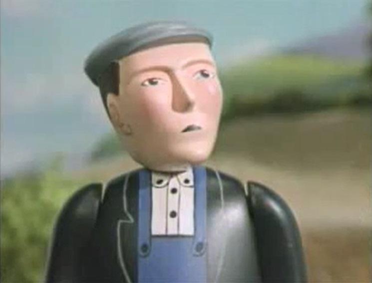TV版第3シーズンの黒いコートの信号手