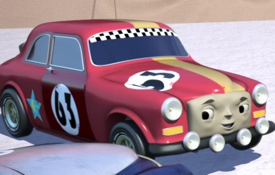 ボンネビル・ソルトフラッツでエースを待っている63番のラリーカー