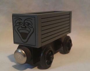 木製レールシリーズの8型無蓋貨車