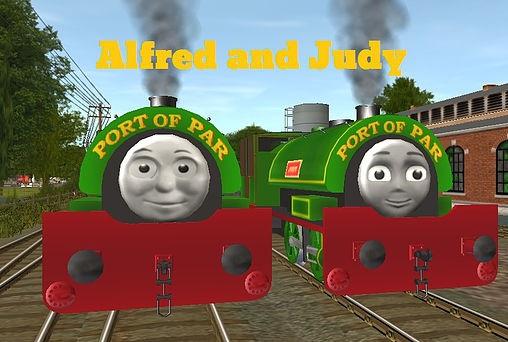 Trainzのアルフレッドとジュディー