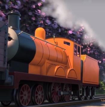 TV版長編第14作のオレンジのテンダー機関車