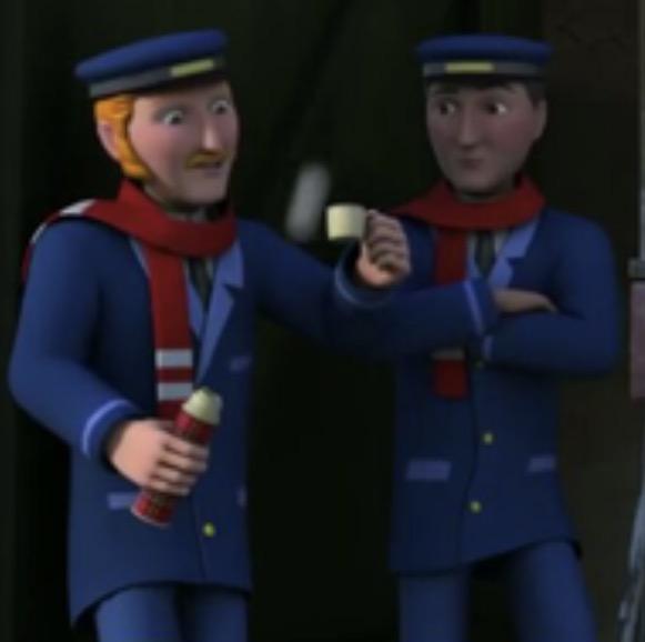 TV版第20シーズンのダグラスの機関士(左)