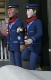 TV版第20シーズンのトビーの機関士(左)