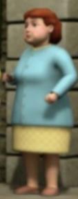 TV版第16シーズンの水色のカーディガンを着た女性