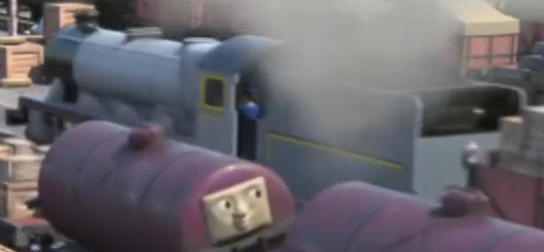 TV版長編第14作の灰色のテンダー機関車(タンザニア)