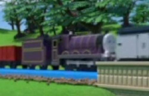 プラレールの紫のテンダー機関車(カスタム化)