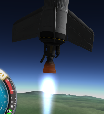 動翼とジンバル