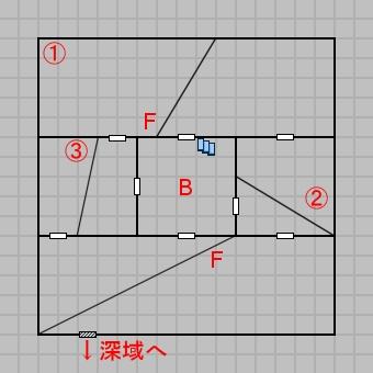 第二層浅域のマップ