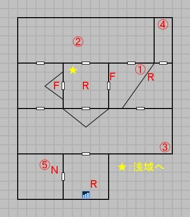 第二層深域のマップ