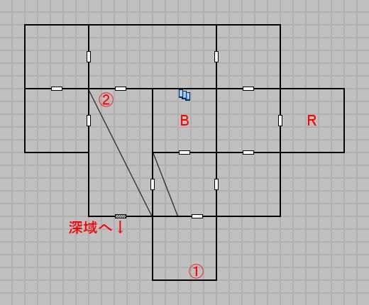 第五層浅域のマップ