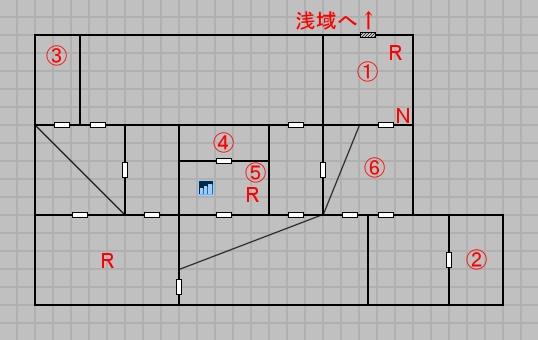 第五層深域のマップ