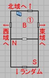 第六層中央のマップ