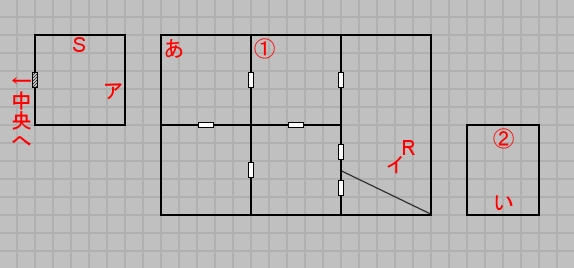 第六層東域のマップ