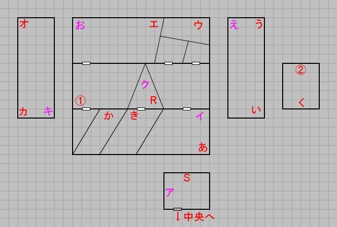 第六層北域のマップ