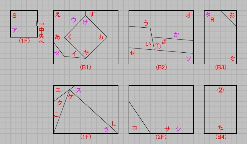 第六層西域のマップ