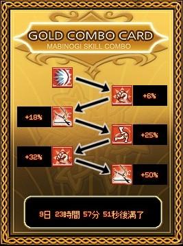 ジャンピングゴールドコンボカード