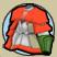 女紅狼の鎧上衣