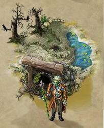 湿地の地下室