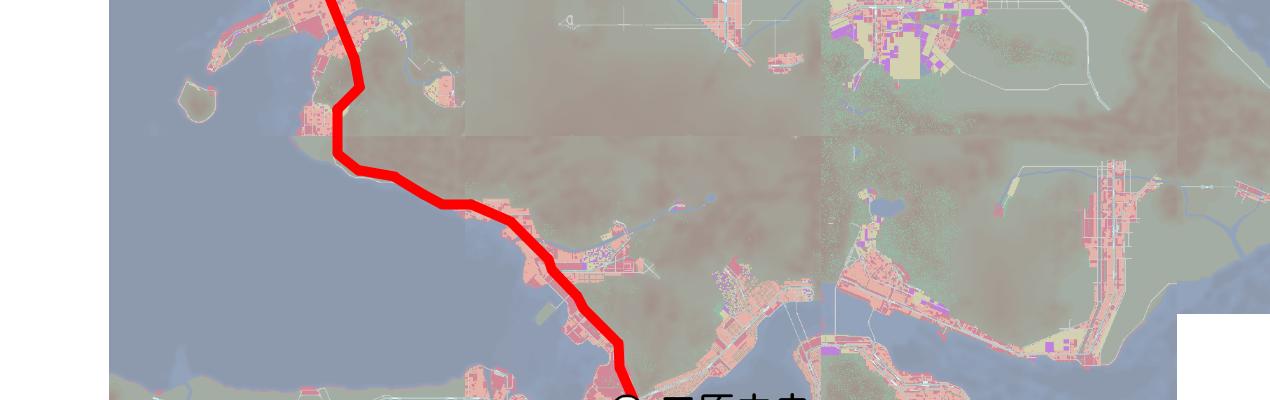 スーパーいろはサテライト路線図