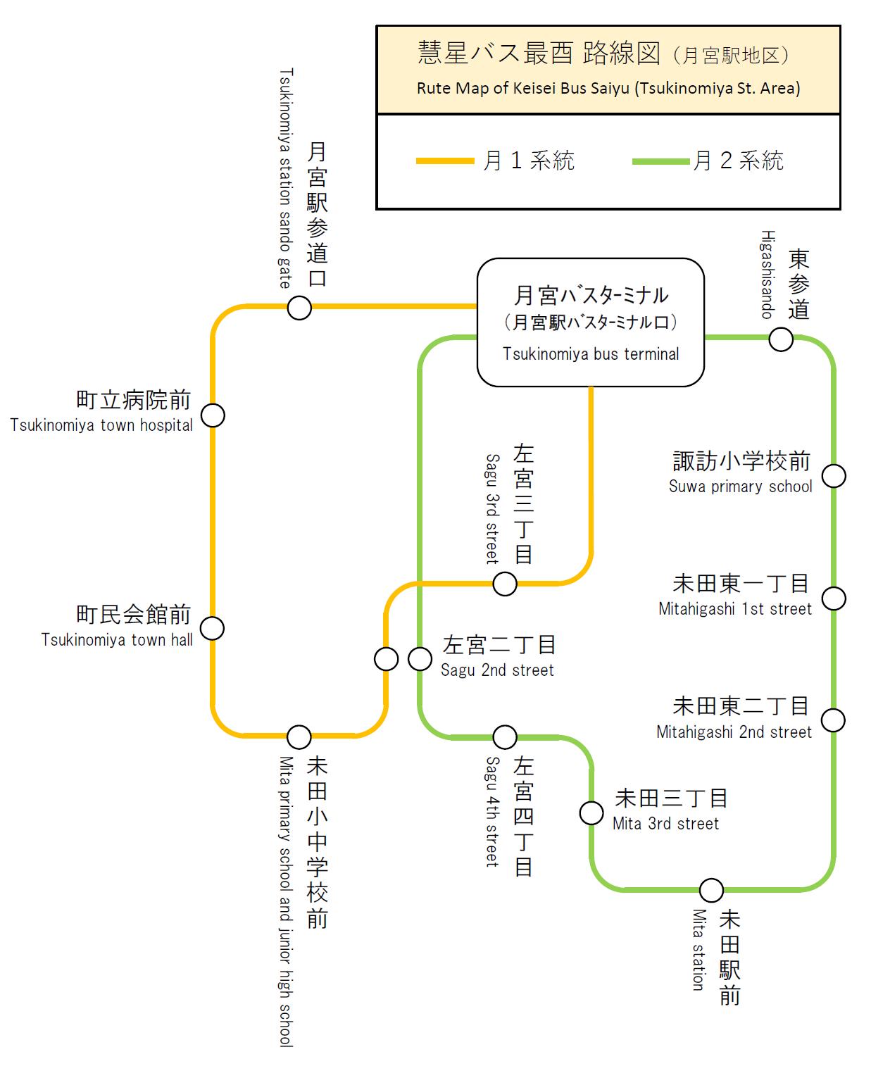 慧星バス最酉路線図(月宮地区).png