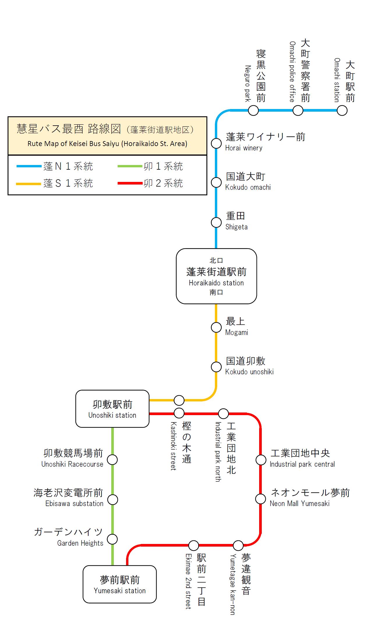 慧星バス酉都路線図(蓬莱街道駅地区)2.png