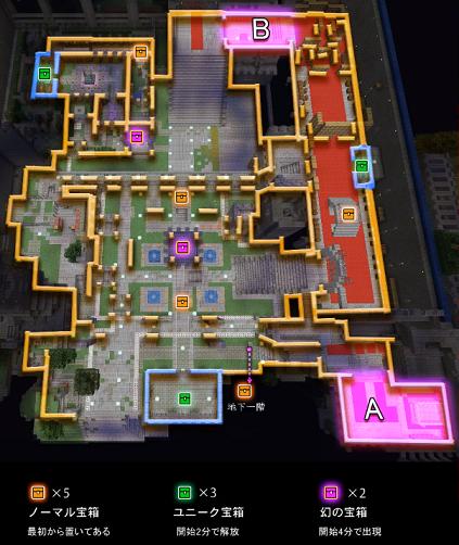 上から見たマップ