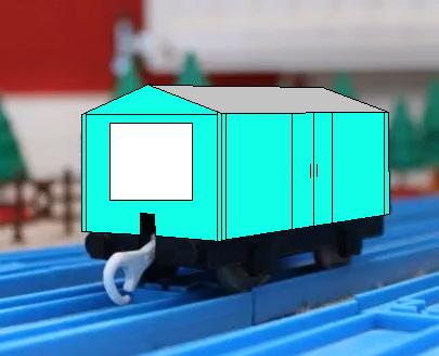 プラレールの薄緑色の塩運搬貨車(タイプ17)