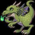 ロウディドラゴン(緑)